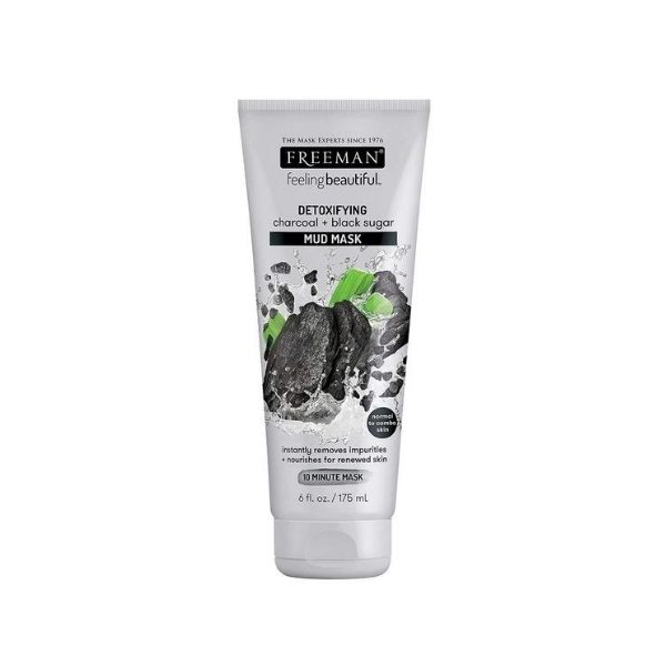 Freeman Detoxifying Charcoal & Black Sugar Mud Mask- 175ml