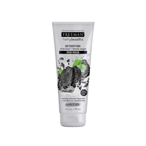 Freeman Detoxifying Charcoal & Black Sugar Mud Mask- 175ml