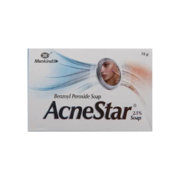 Mankind Acne Star 2.5% Soap - 75g